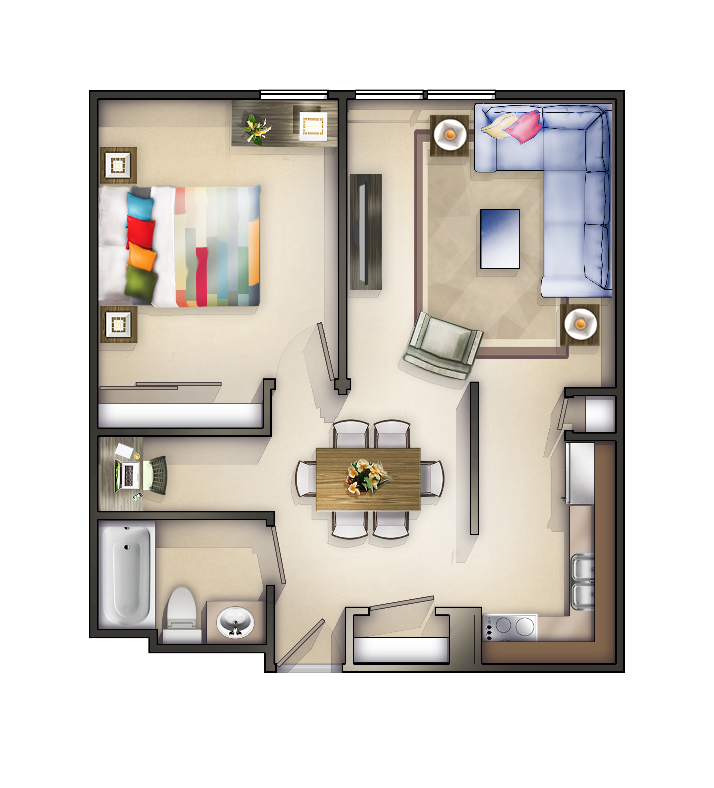 Rockford, IL Apartment | Terrace | Floorplans